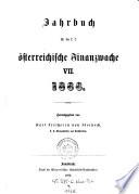 Jahrbuch für die k. k. österreichische Finanzwache
