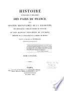Histoire généalogique et héraldique des pairs de France