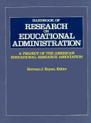 Handbook of Research on Educational Administration