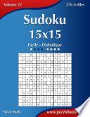 illustration Sudoku 15x15 - Facile à Diabolique - Volume 22 - 276 Grilles