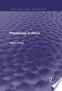 Psychology in Africa  Psychology Revivals