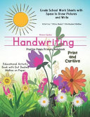 Flower Garden Handwriting Practice Pages Primary Notebook Print   Cursive  Educational Activity Book with Dot Dash Midline on Paper Grade School Stude