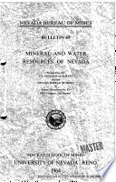 B065  Mineral and water resources of Nevada