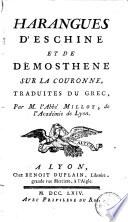 Harangues d Eschine et de D  mosth  ne sur la couronne