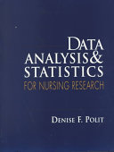 Data Analysis   Statistics for Nursing Research