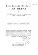 The Essentials of Esthetics in Music, Poetry, Painting, Sculpture and Architecture