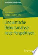 Linguistische Diskursanalyse: neue Perspektiven