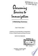 Overcoming Barriers to Immunization