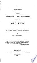 A Selection from the Speeches and Writings of the Late Lord King Book PDF