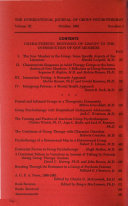 The International Journal Of Group Psychotherapy