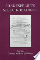 Shakespeare S Speech Headings