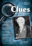 download ebook clues: a journal of detection, vol. 34, no. 1 (spring 2016) pdf epub