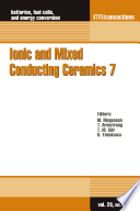 Ionic and Mixed Conducting Ceramics 7