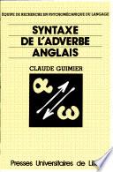 illustration Syntaxe de l'adverbe anglais