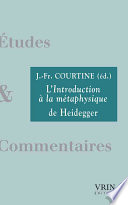 L'introduction à la métaphysique de Heidegger