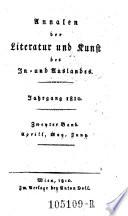 Annalen der österreichischen Literatur, hrsg. von einer Gesellschaft innländischer Gelehrten