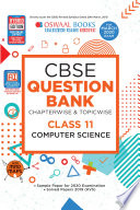 Oswaal Cbse Question Bank Class 11 Computer Science Chapterwise Topicwise Includes Objective Types Mcq S For March 2020 Exam