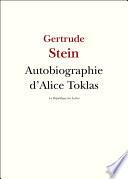 Autobiographie d'Alice Toklas Gertrude Stein A Ete La