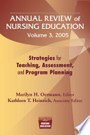 Annual Review of Nursing Education Volume 3  2005