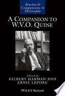 A Companion to W  V  O  Quine