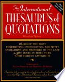 The International Thesaurus of Quotations