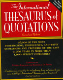The International Thesaurus of Quotations