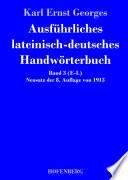 Ausf  hrliches lateinisch deutsches Handw  rterbuch