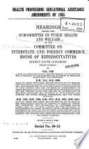 Health Professions Educational Assistance Amendments Of 1965