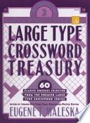 Large Type Crossword Treasury