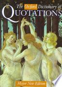 The Oxford Dictionary of Quotations Location Are Combined In A