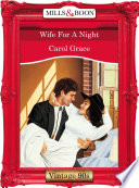 Wife For A Night  Mills   Boon Vintage Desire