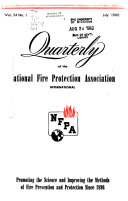 Quarterly of the National Fire Protection Association