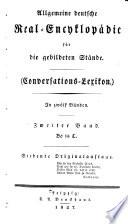 Allgemeine deutsche Real-Encyklopädie für die gebildeten Stände. Conversations-Lexikon