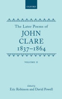 The Later poems of John Clare
