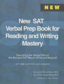 New SAT Verbal Prep Book for Reading and Writing Mastery