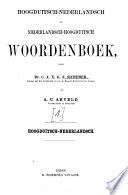 Hoogduitsch-nederlandsch en nederlandsch-hoogduitsch woordenboek