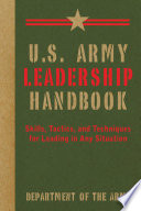 Book U S  Army Leadership Handbook