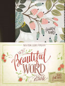 NKJV  Beautiful Word Bible  Hardcover  Multi Color Floral Cloth  Red Letter Edition