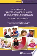 Petite enfance  services de garde   ducatifs et d  veloppement des enfants