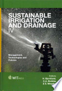 Sustainable Irrigation and Drainage IV
