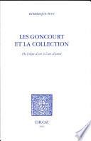 illustration Les Goncourt et la collection, de l'objet d'art à l'art d'écrire