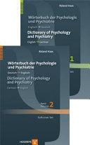 Dictionary Of Psychology And Psychiatry Worterbuch Der Psychologie Und Psychiatrie