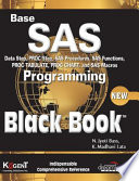 Base Sas Programming Black Book, 2007 Ed