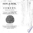 The Non Juror  A comedy     Altered from Moli  re s  Tartuffe   The third edition