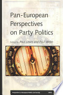 Pan-European Perspectives on Party Politics