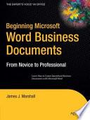 Beginning Microsoft Word Business Documents