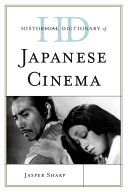 Historical Dictionary of Japanese Cinema Book