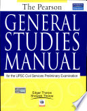 The Pearson General Studies Manual 2009  1 e