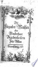 Die Fliegenden Menschen oder Wunderbare Begebenheiten Peter Wilkins [from the English of R. Paltock].