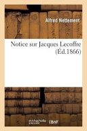 Notice Sur Jacques Lecoffre